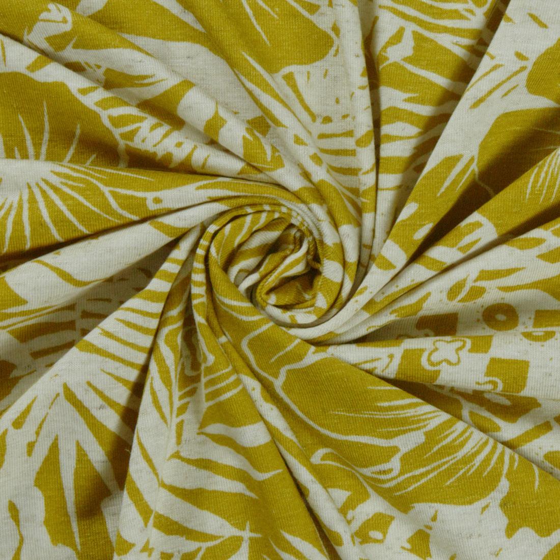 Silhouette Jersey Ochre Dress Fabric
