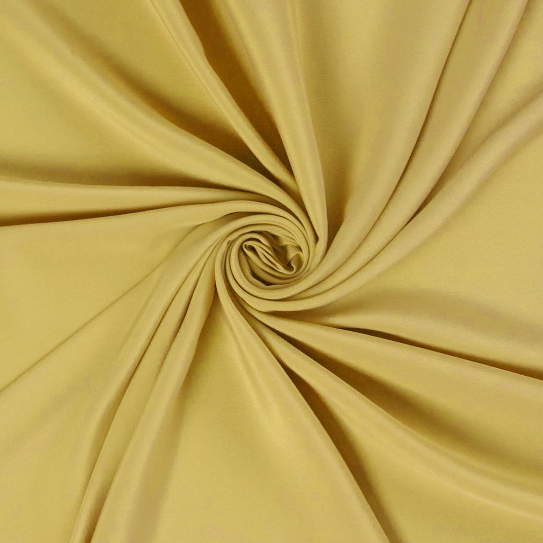 Silk Acetate Yellow Dress Fabric