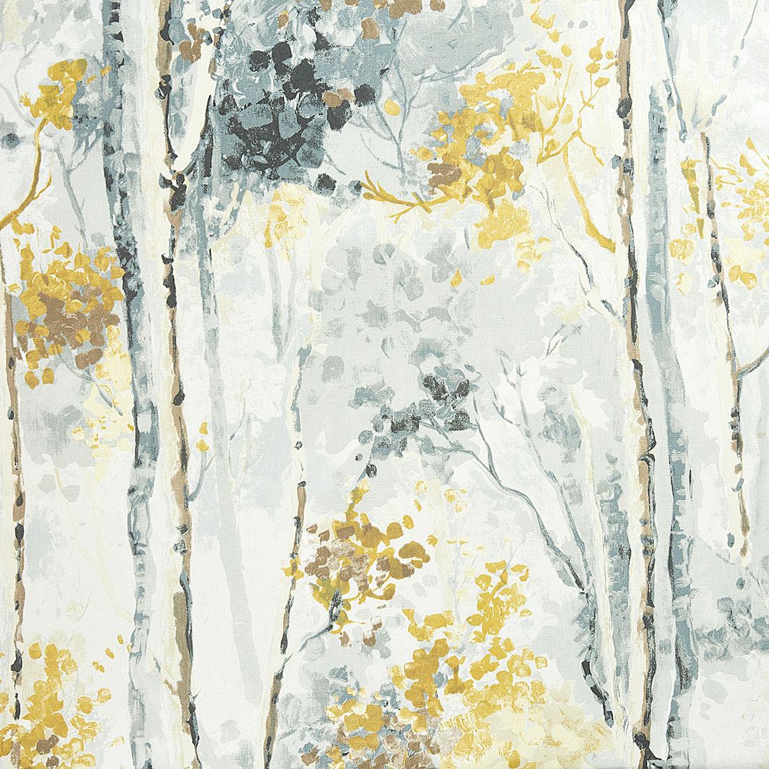 Silver Birch Shadow Curtain Fabric