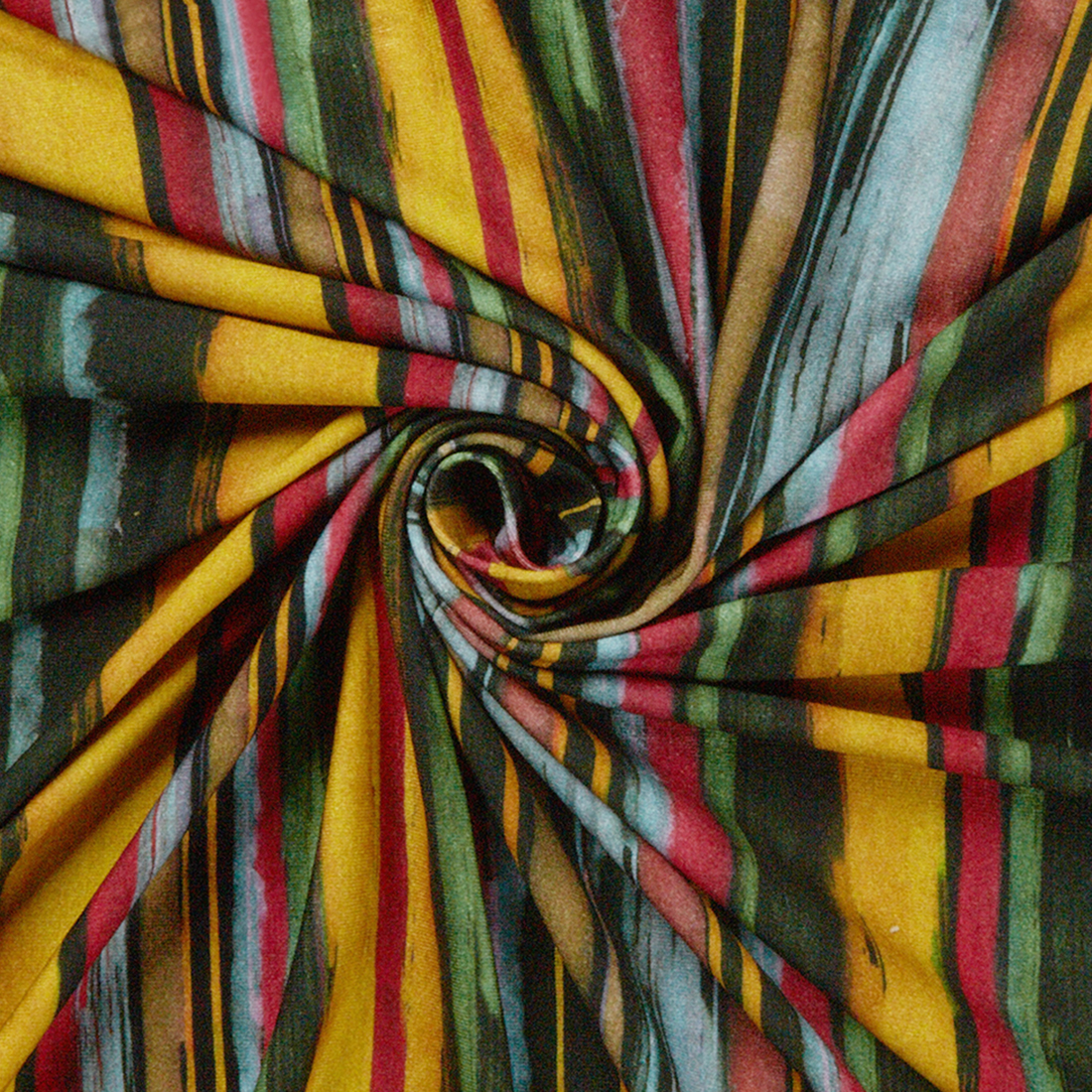 Sinharaja Stripe Multi Dress Fabric