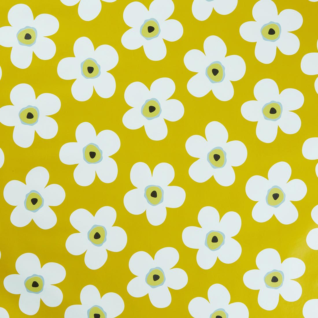 Small Big Flower Mustard Oil Cloth