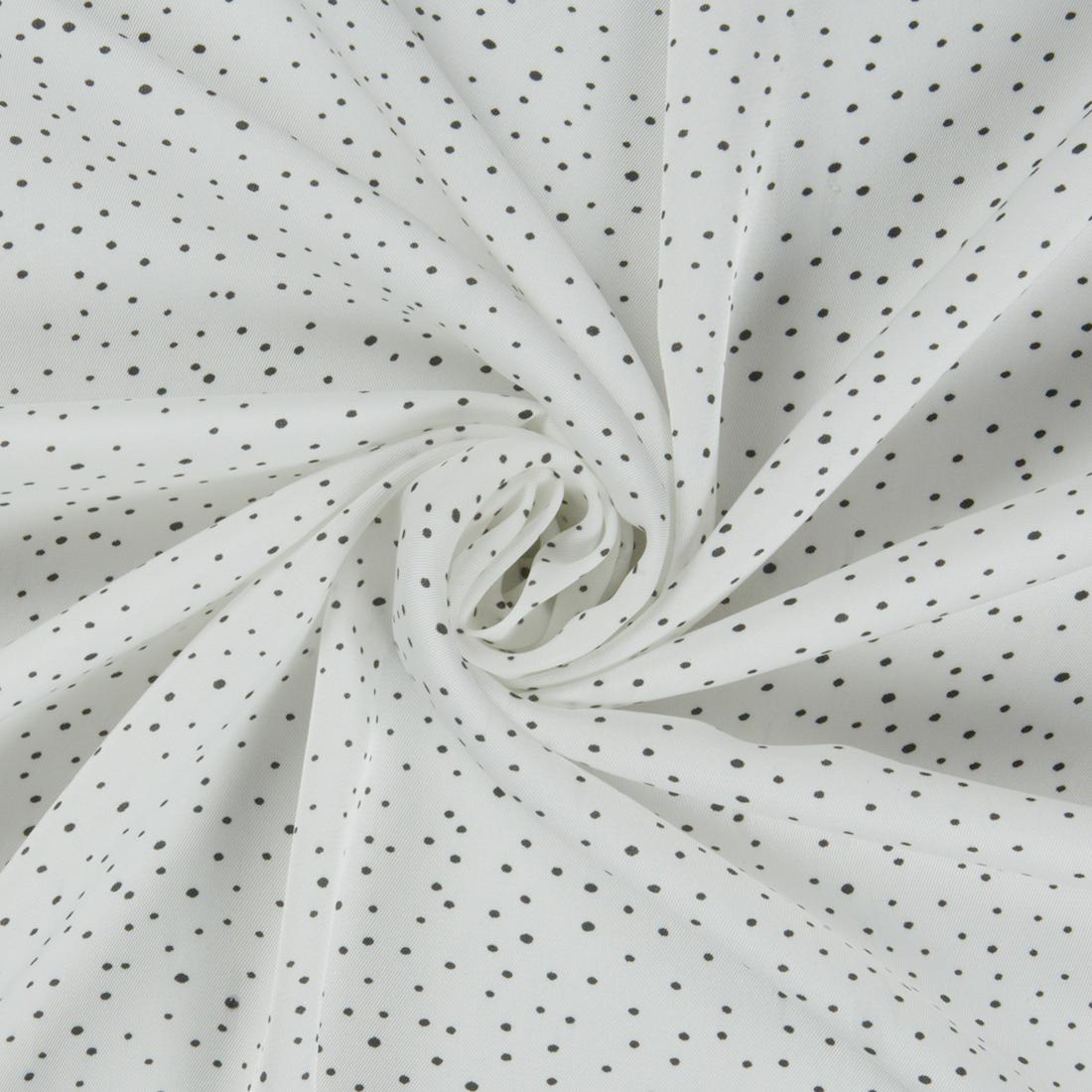 Small Dot Satin Ivory Dress Fabric