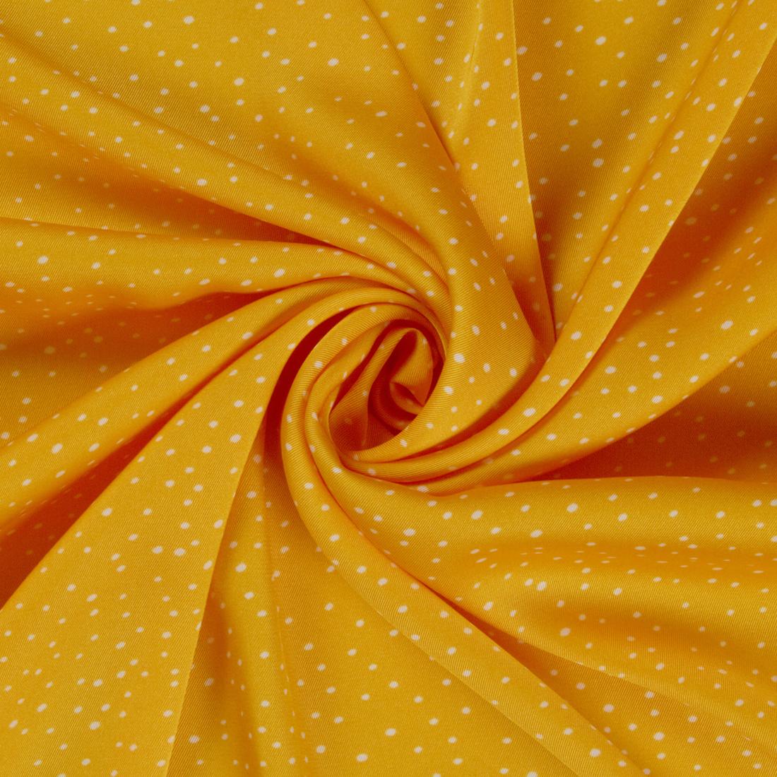 Small Dot Satin Yellow Dress Fabric