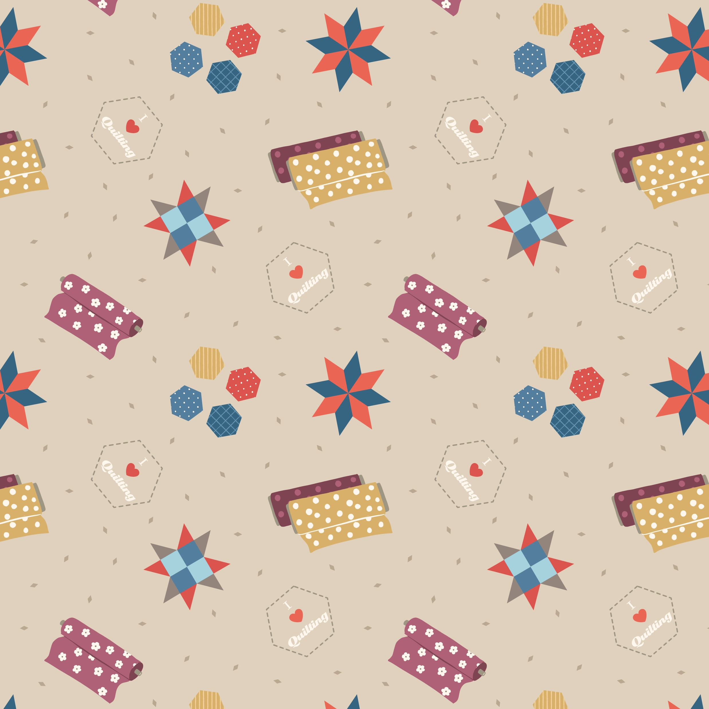 Small Things Ivory Quilting Fabric