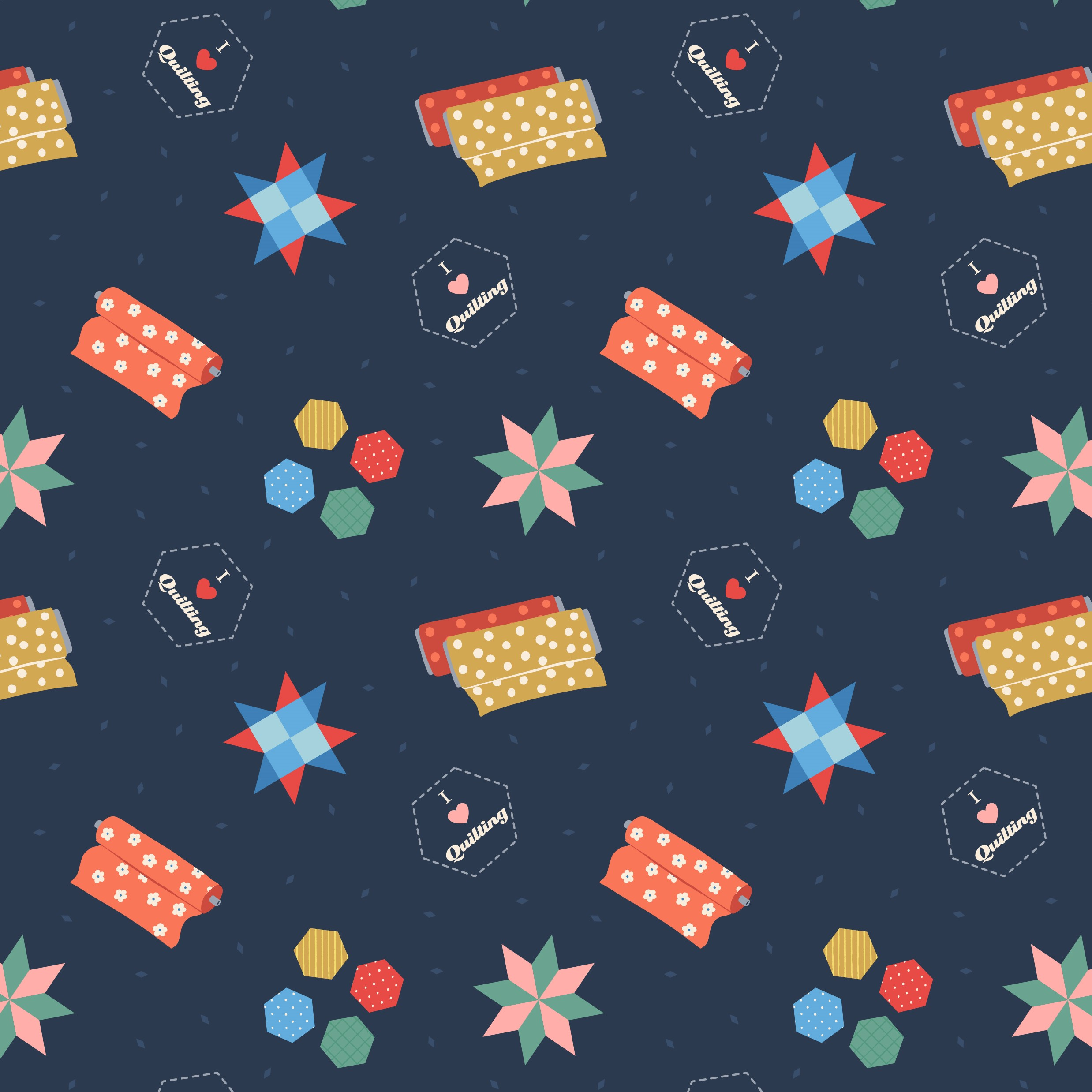 Small Things Navy Quilting Fabric