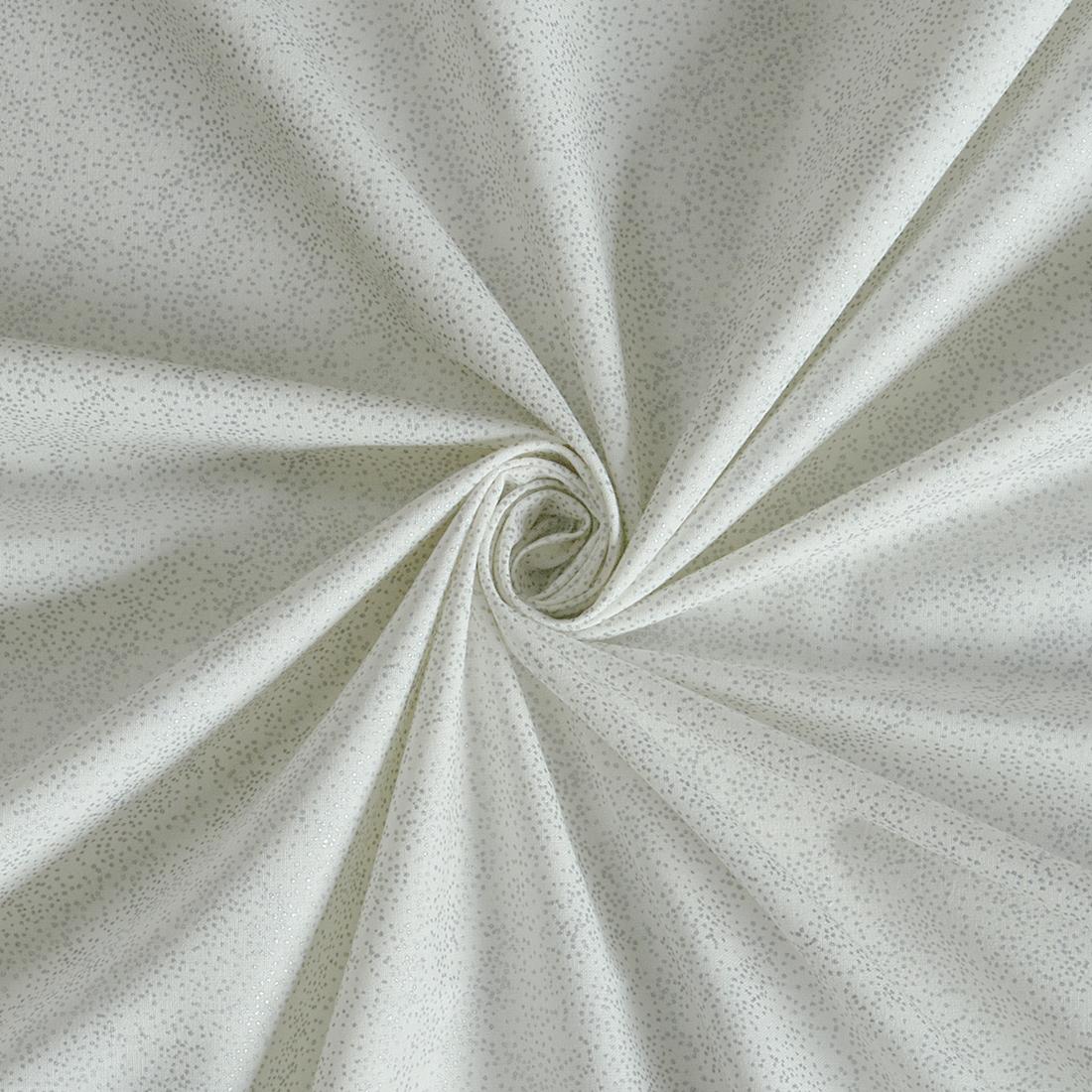 Spaced Glitter Foil White Silver