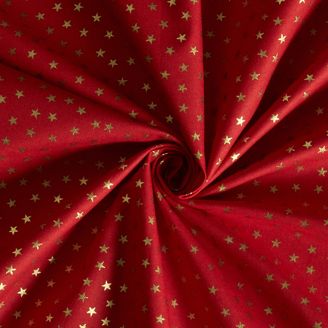 Spaced Star Foil Red Gold