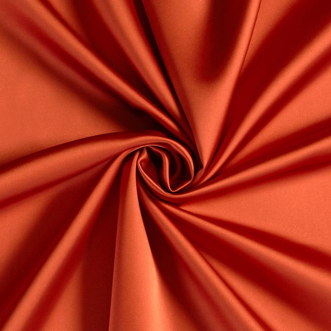 Stretch Duchess Satin Burnt Orange