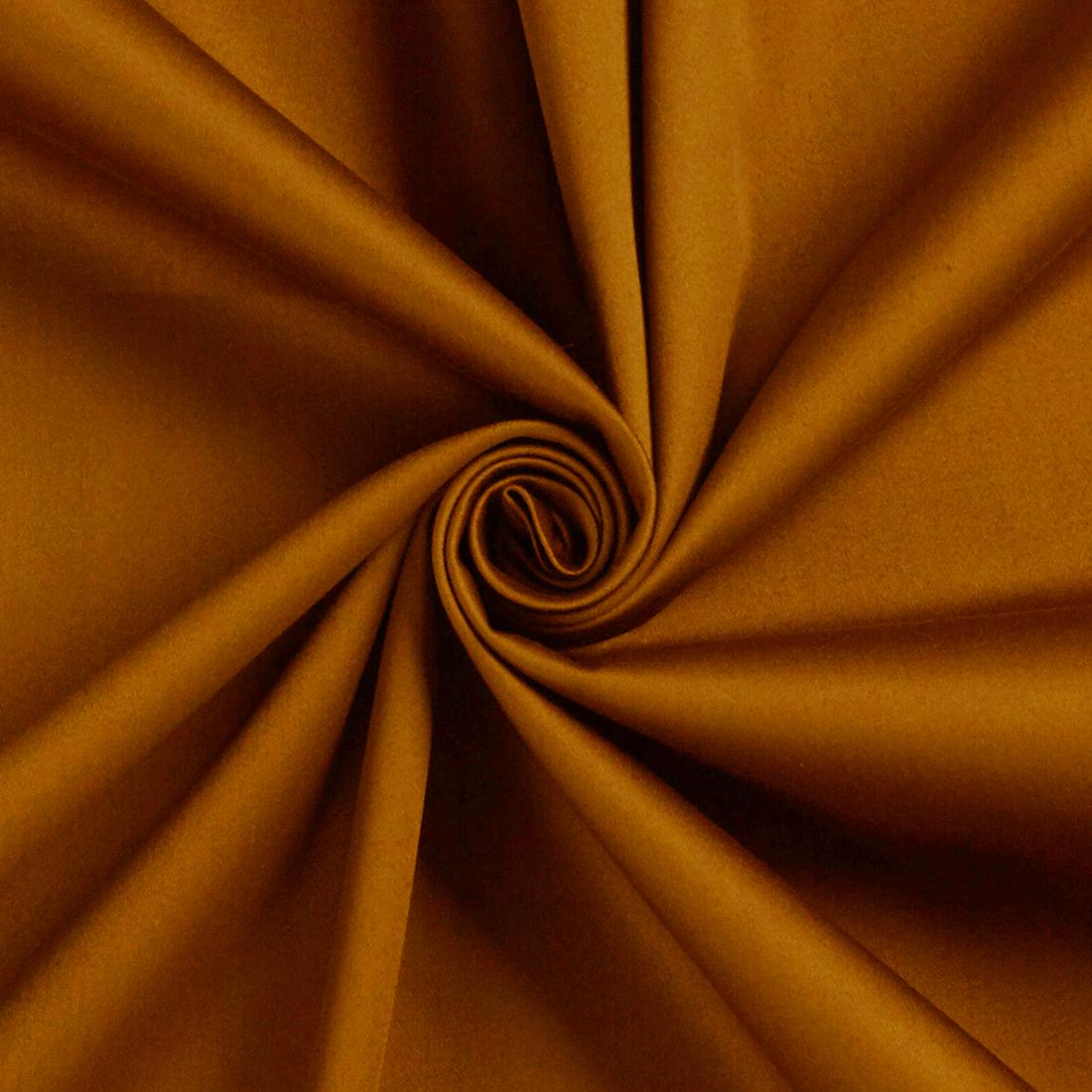 Stretch Sateen Caramel Dress Fabric