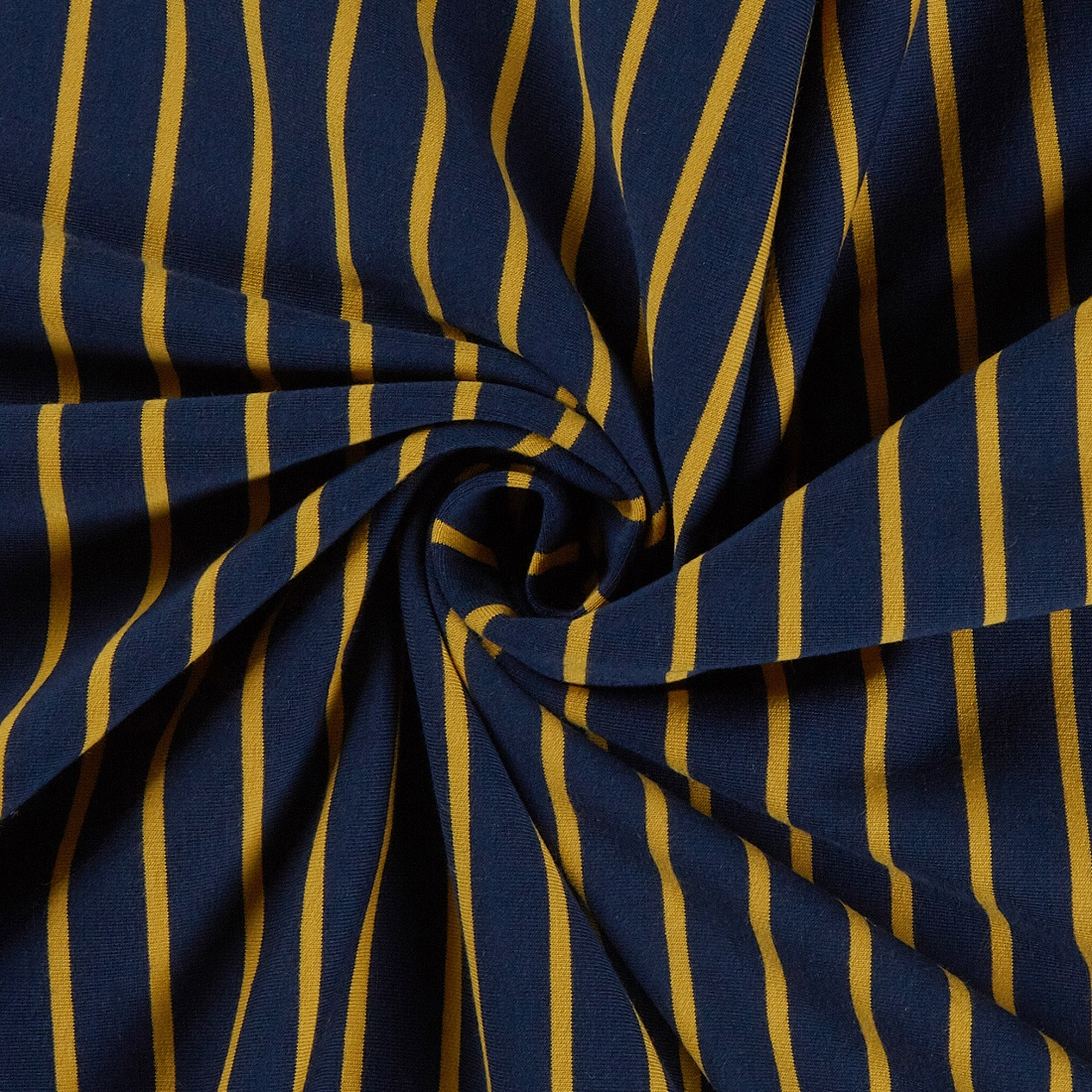 Stripe Jersey Navy Dress Fabric
