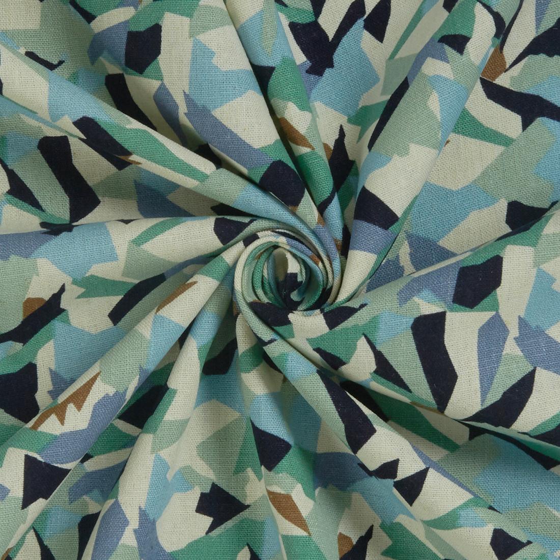 Summer Linen Mix Sage Dress Fabric
