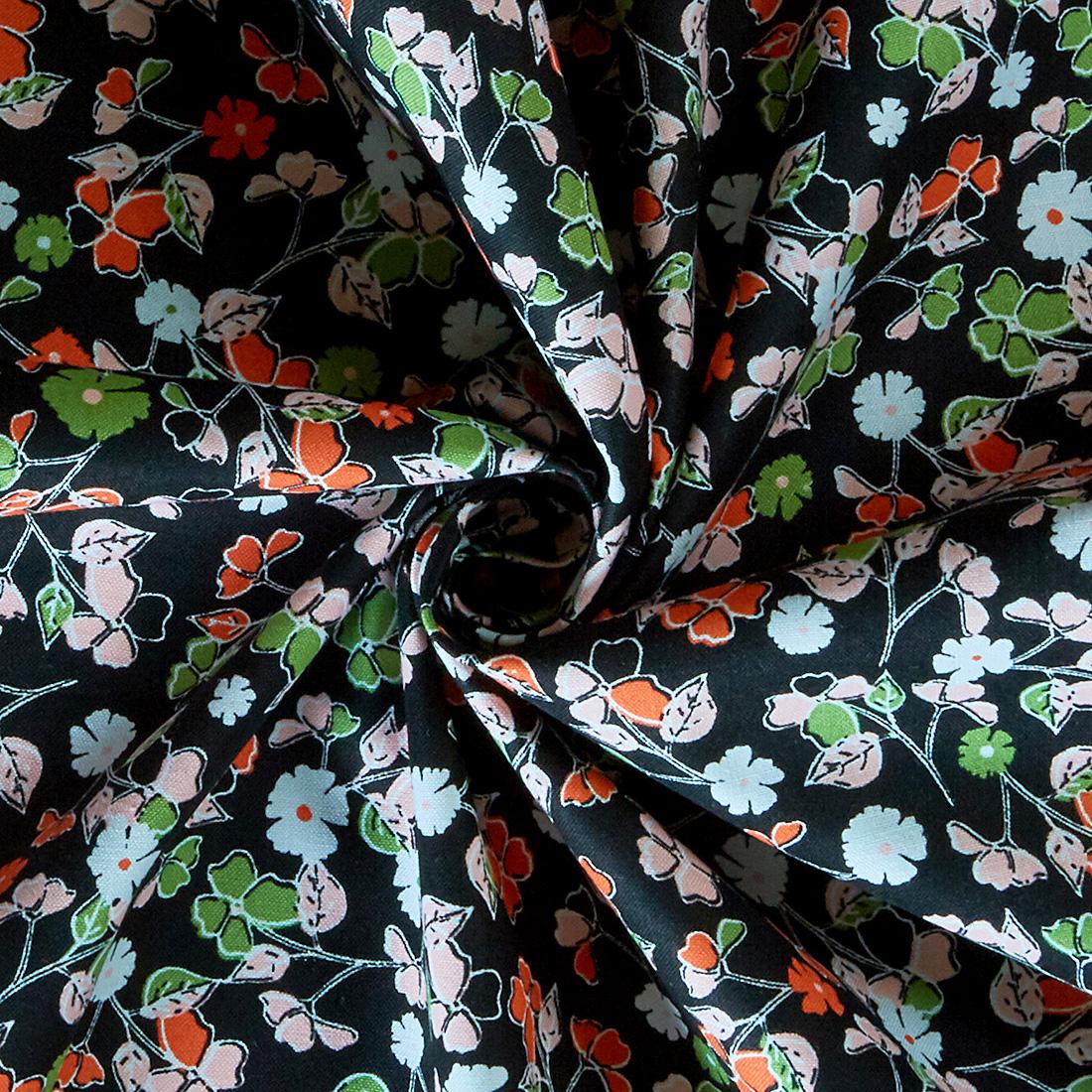 Cotton Summer Skies Clover Black