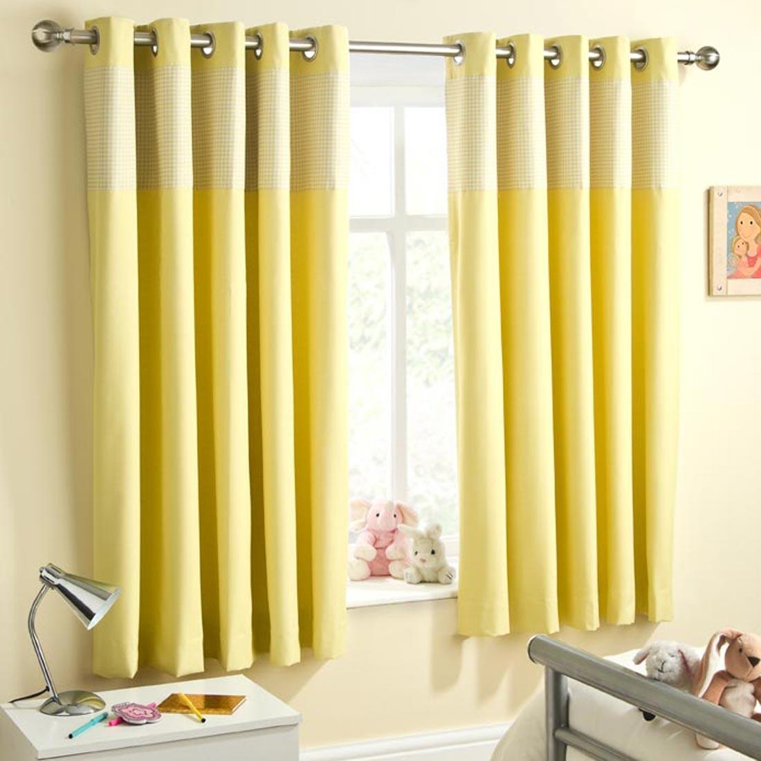 Sweetheart Lemon Blackout Eyelet Curtains