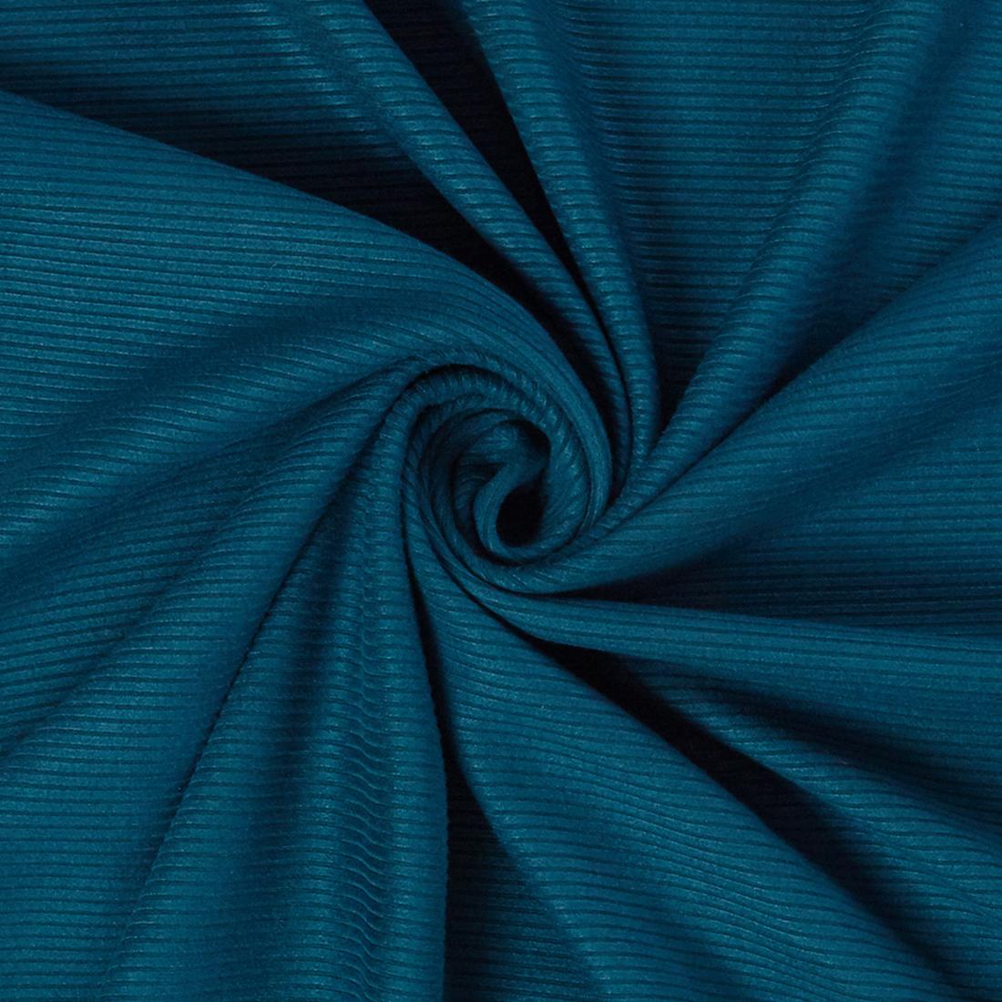 Terry Corduroy Turquoise Dress Fabric