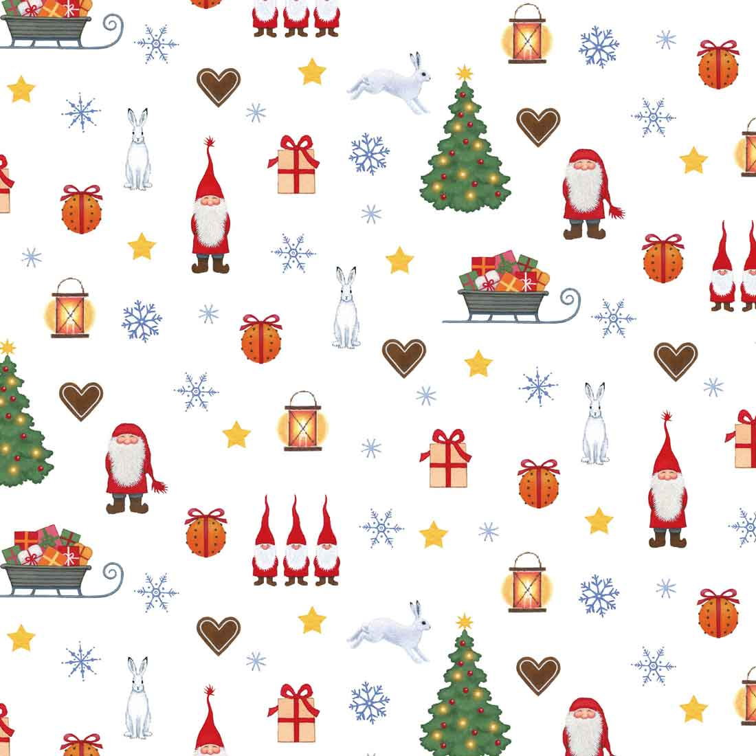 Tomtens Christmas Gnomes Craft Fabric