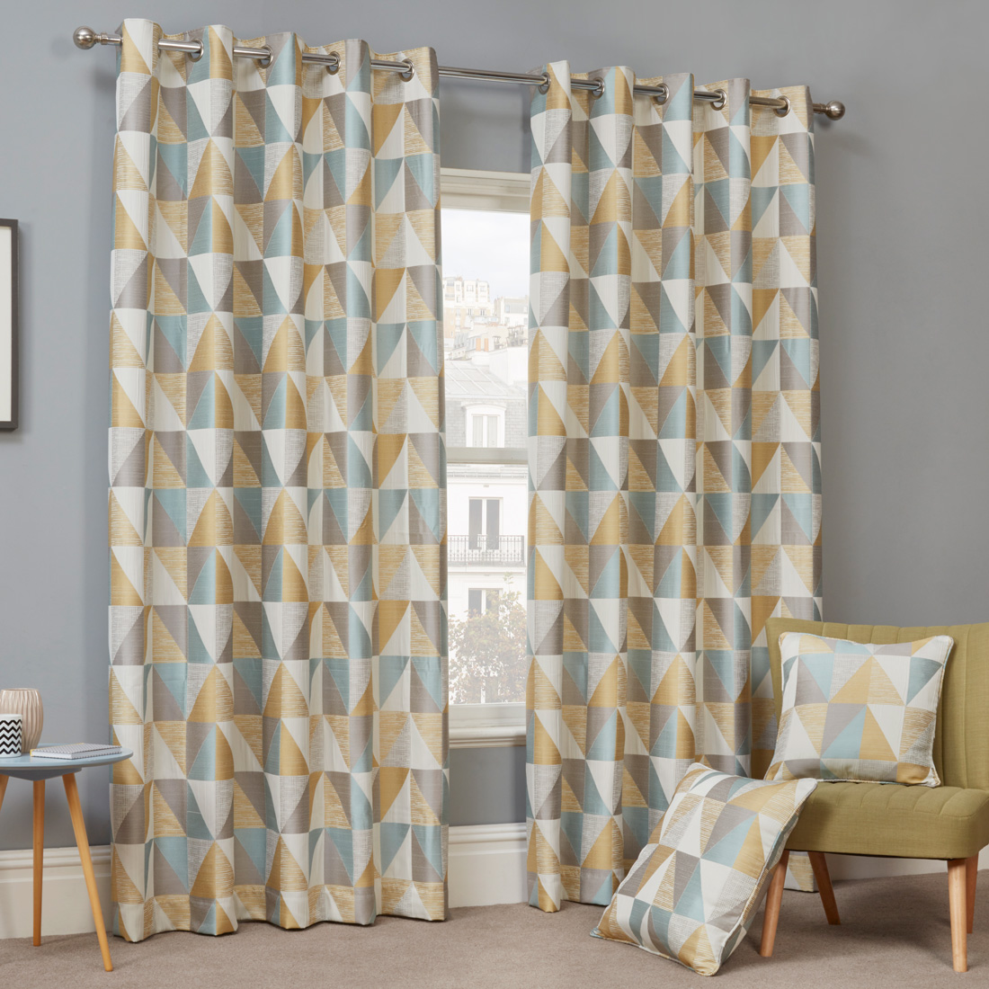 Urban Jade Eyelet Curtains