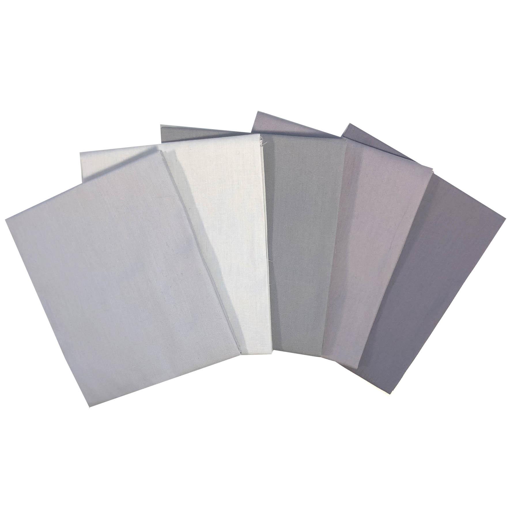 Value Fat Quarters Plain Grey