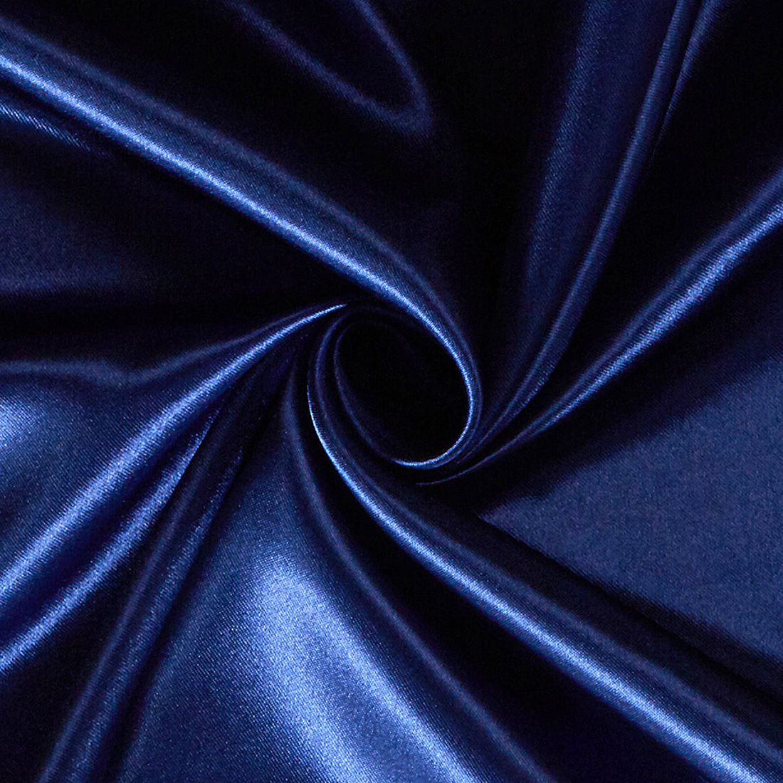 Poly Satin Navy