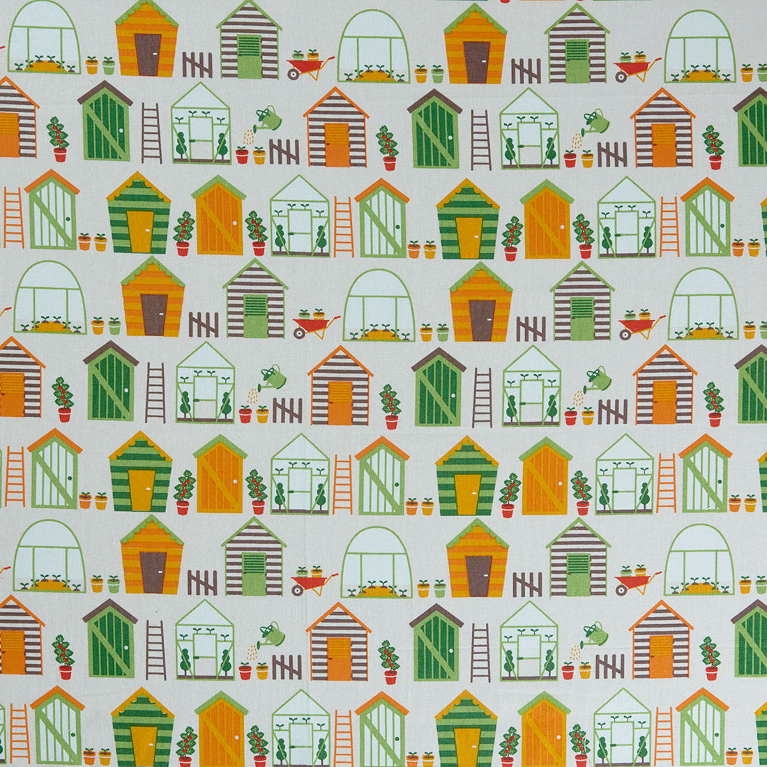 Vegetable Patch Shed Craft Fabric
