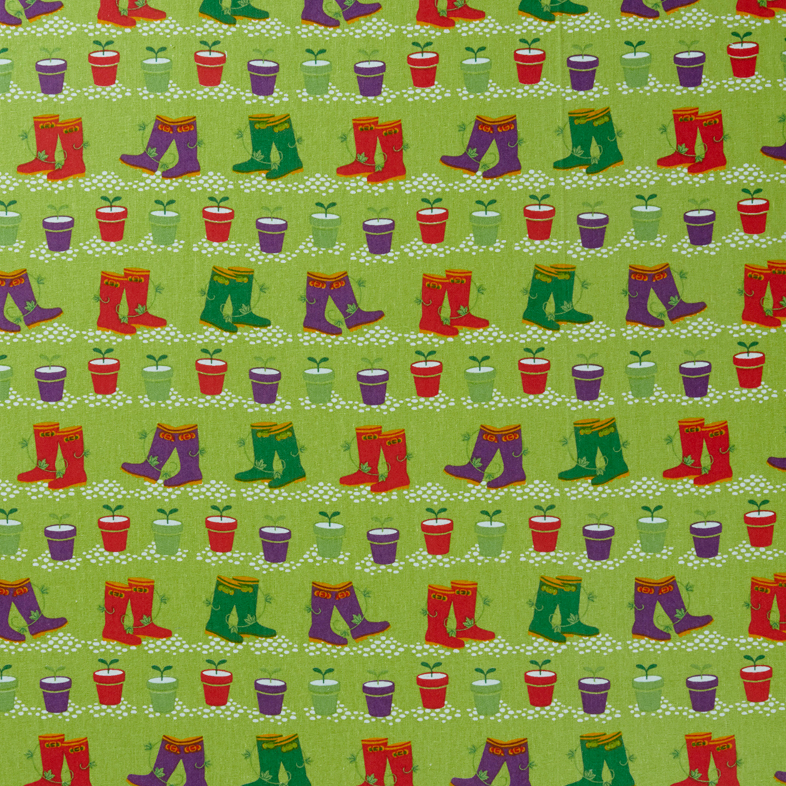 Vegetable Patch Wellies Craft Fabric