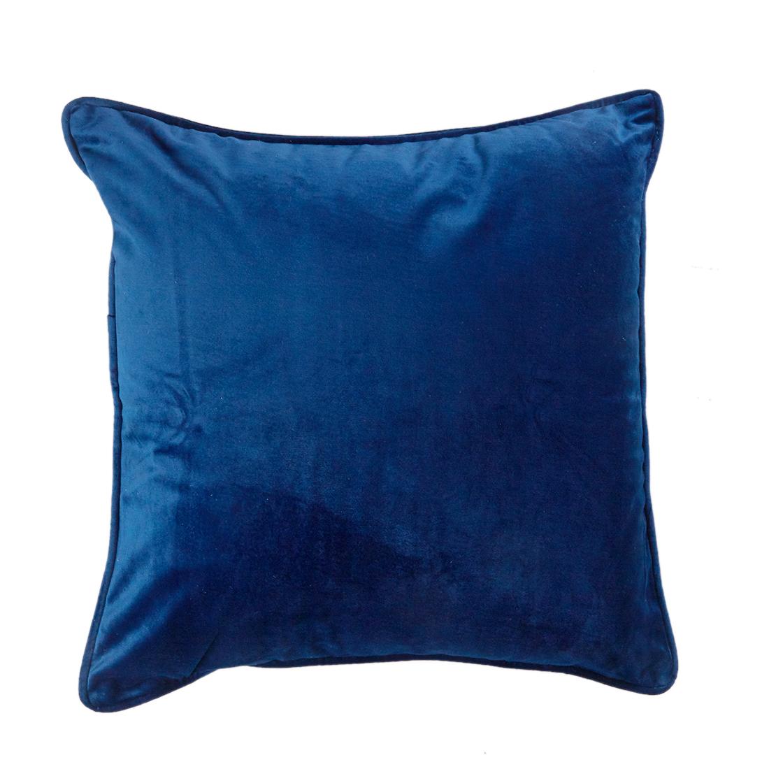 Velour Navy Cushion