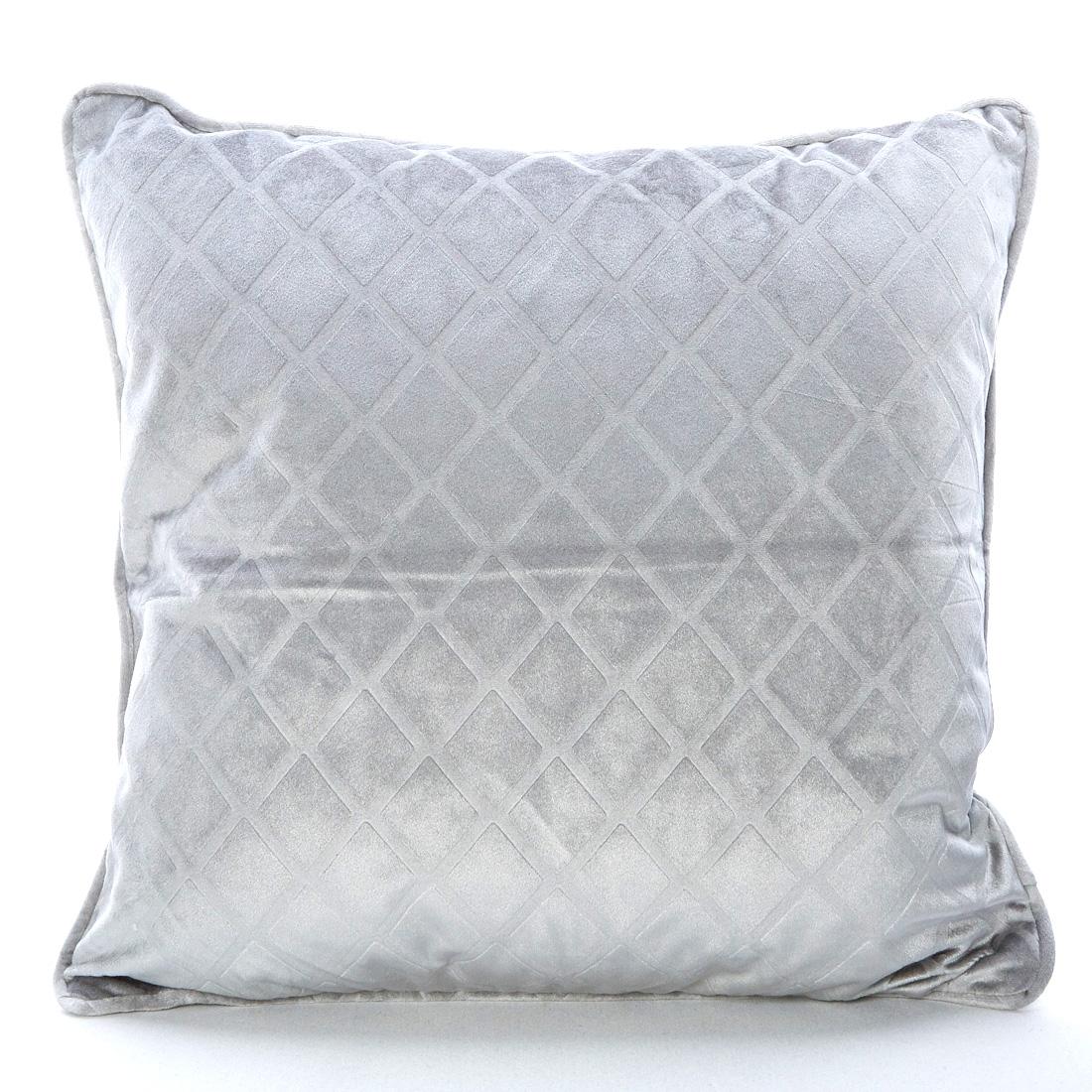 Velvet Trellis Grey Cushion