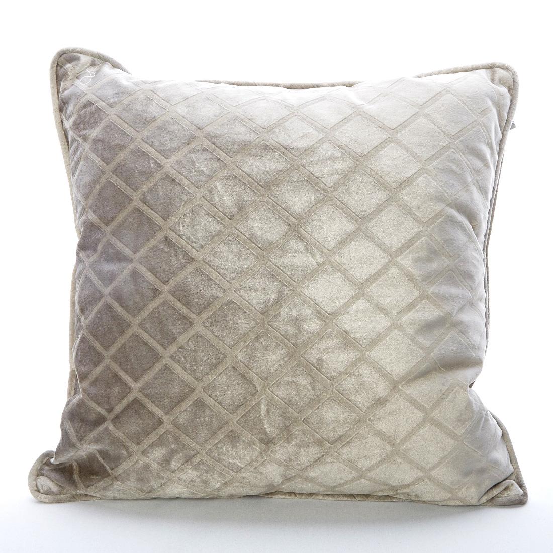Velvet Trellis Mink Cushion