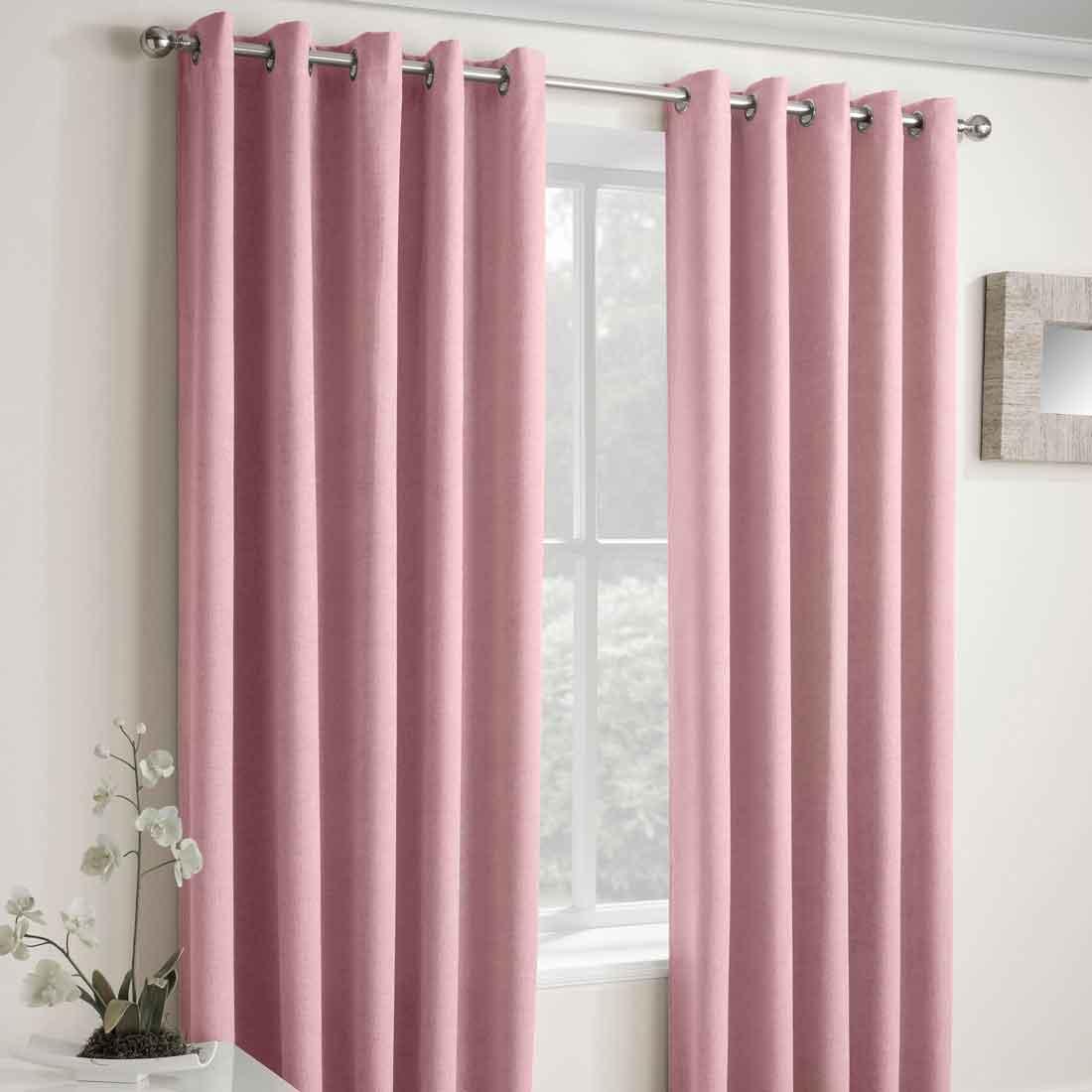 Vogue Blush Thermal Eyelet Curtains