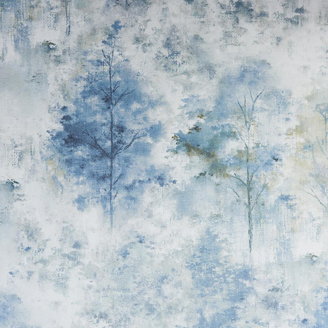 Woodland Saxon Blue Curtain Fabric